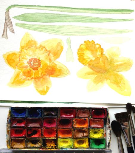 Watercolor clipart tools.